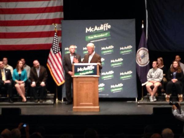 President Bill Clinton spoke in Charlottesville on Oct. 30 to campaign for Terry McAuliffe.