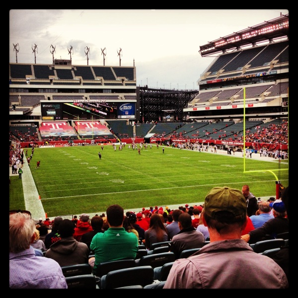 The 2013 Homecoming game of Temple's football program at Lincoln Financial Field. Higher attendance than normal because of the Homecoming.